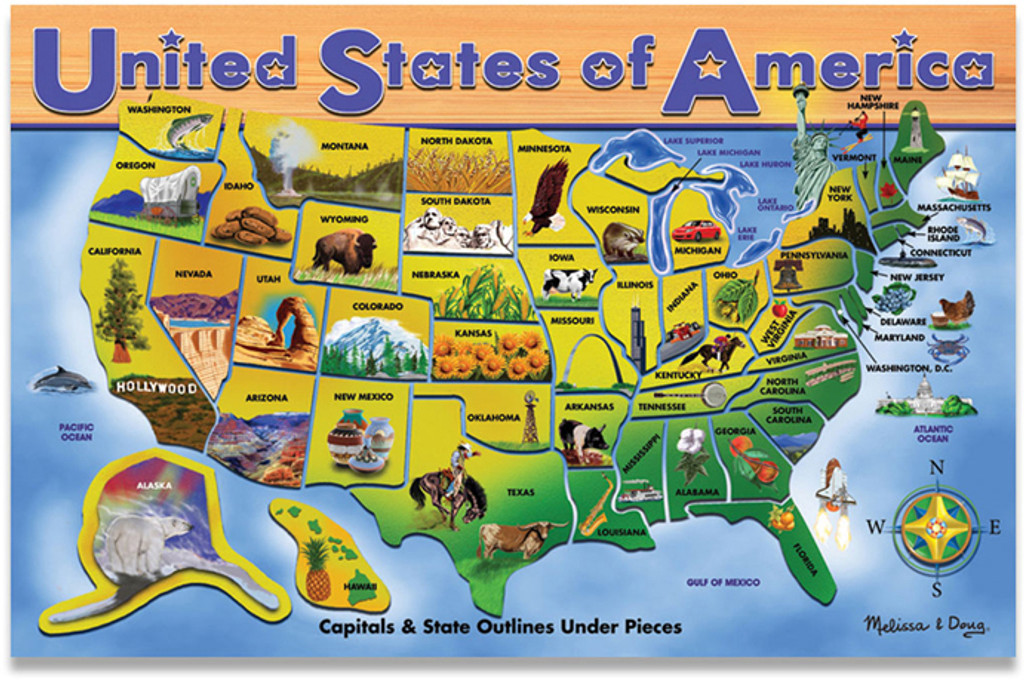 USA Map Puzzle Rand McNally Store