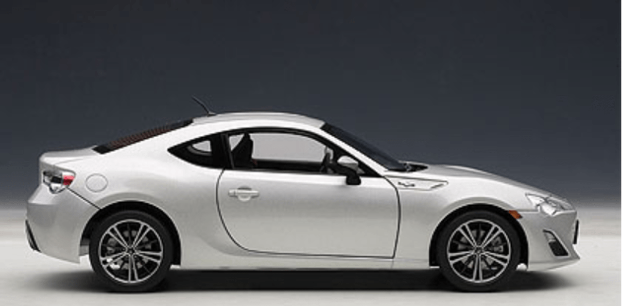 hight resolution of 1 18 autoart scion frs fr s silver