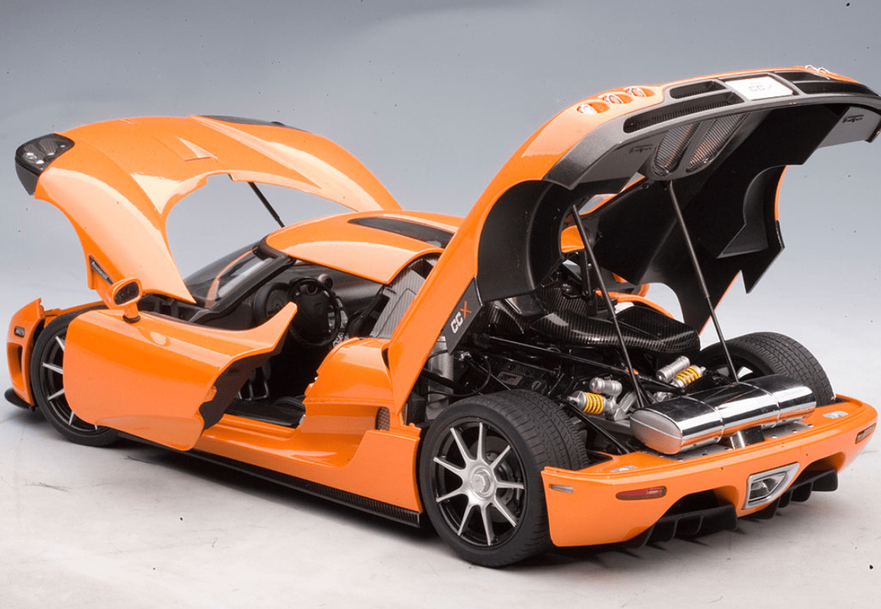 medium resolution of rare 1 18 autoart koenigsegg ccx orange diecast car model 79001