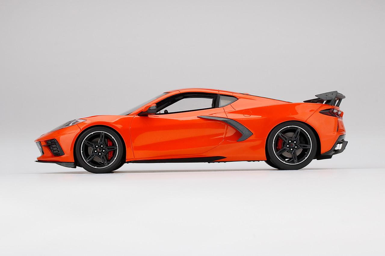 1/18 TSM Chevrolet Chevy Corvette C8 (Orange) Resin Car Model - LIVECARMODEL.com