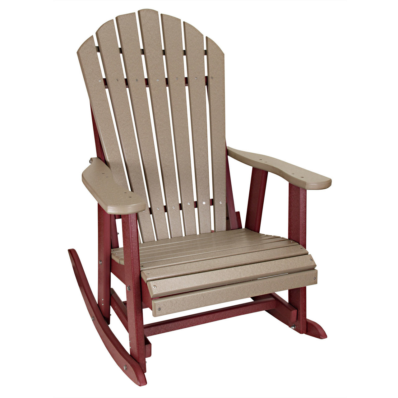 Cheap Rocking Chairs Outer Banks Deluxe Poly Lumber Adirondack Rocking Chair