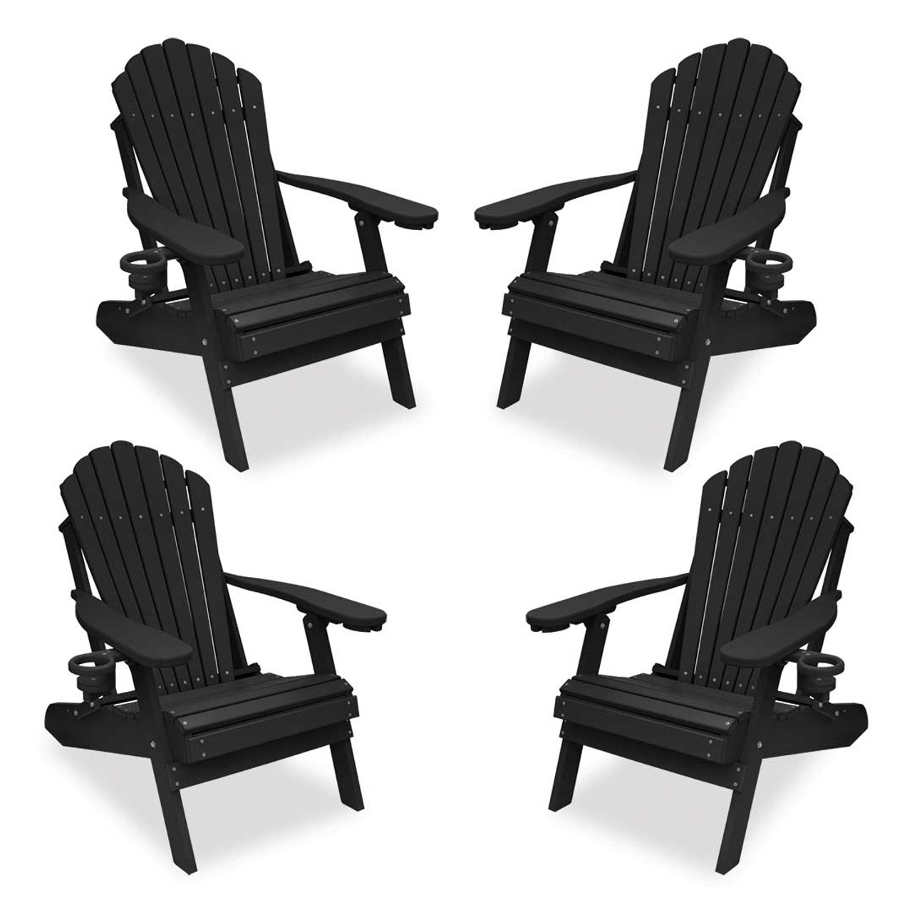 Adirondack Chair Set Outer Banks 4 Piece Deluxe Adirondack Chair Set Available In 18 Colors