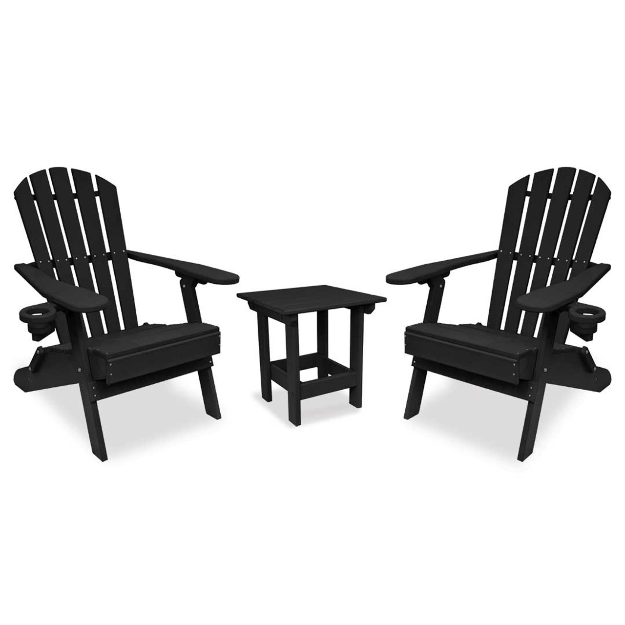 Adirondack Chair Set Outer Banks 3 Piece Value Line Adirondack Chair Set With Value Line Square Table Available In 14 Colors