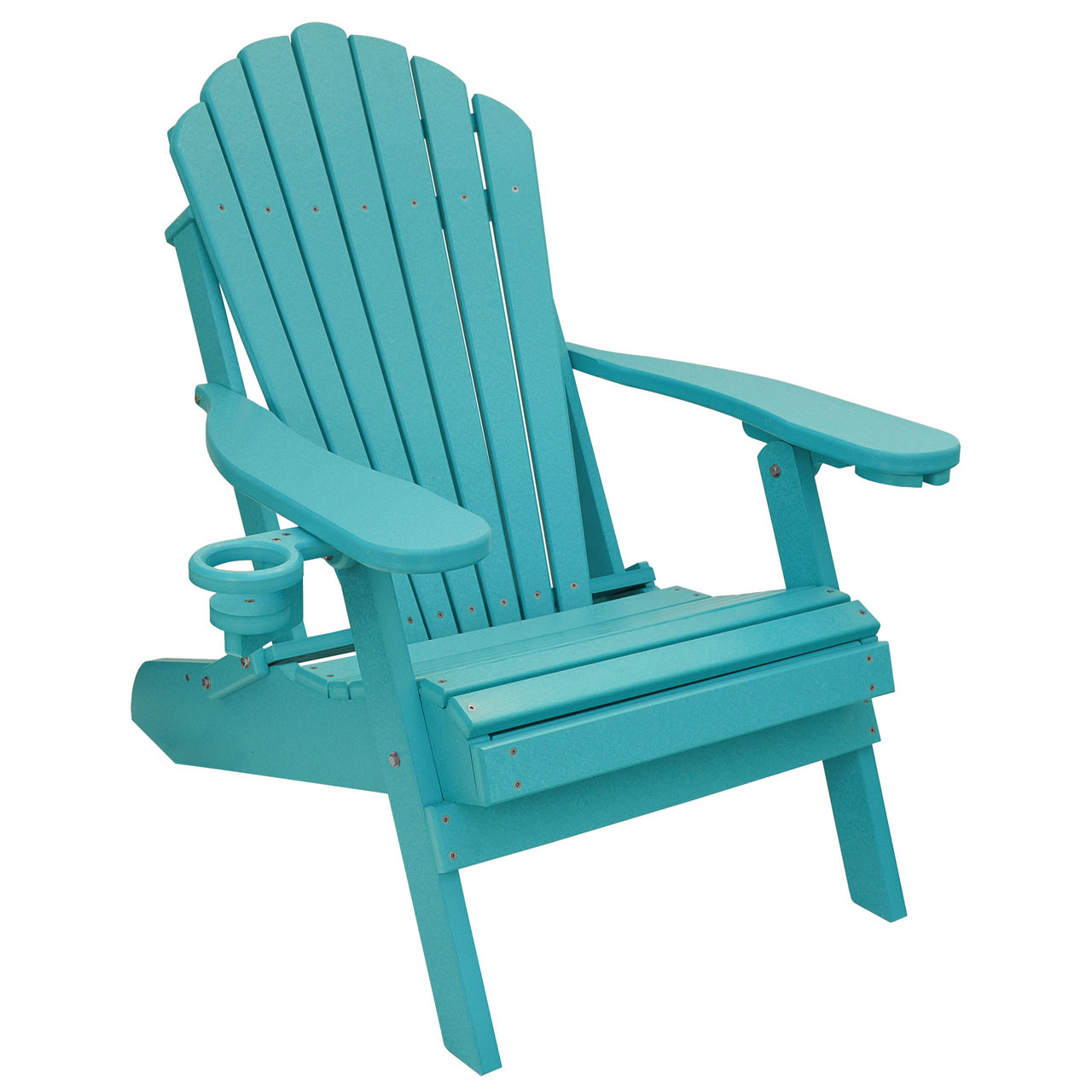 Arondyke Chairs Outer Banks Deluxe Oversized Poly Lumber Folding Adirondack Chair With Cup Holders