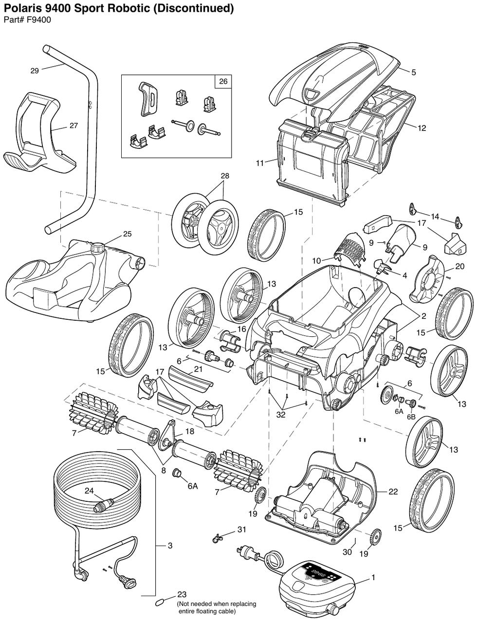 hight resolution of polaris 9400 parts