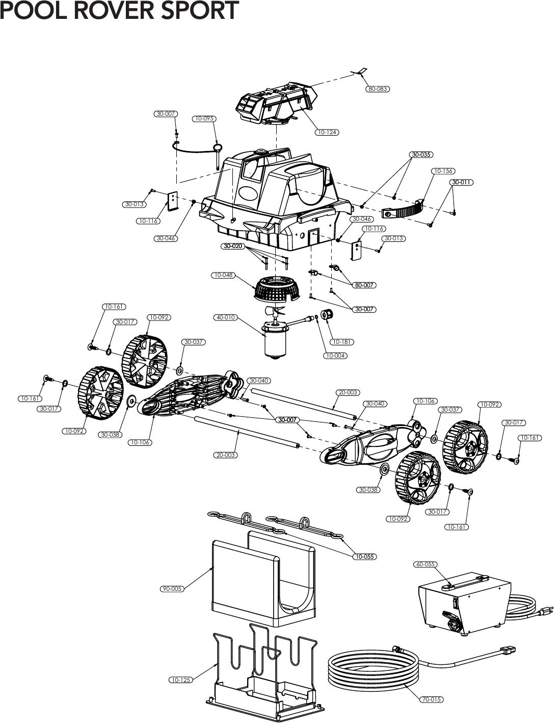 hight resolution of aquabot pool rover sport parts