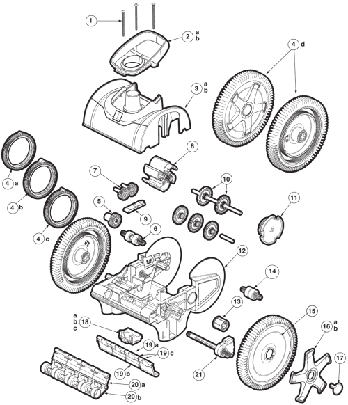 small resolution of hayward aquanaut 400 450 parts
