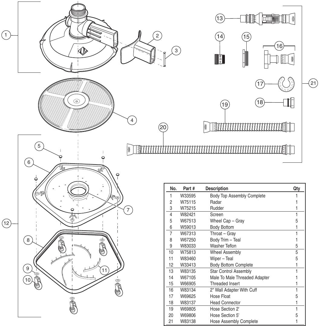 hight resolution of baracuda zippy parts