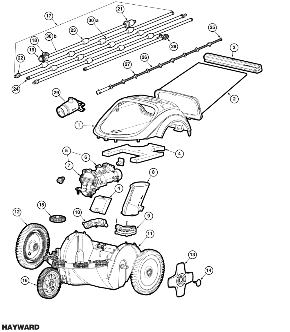 medium resolution of hayward trivac 500 700 parts