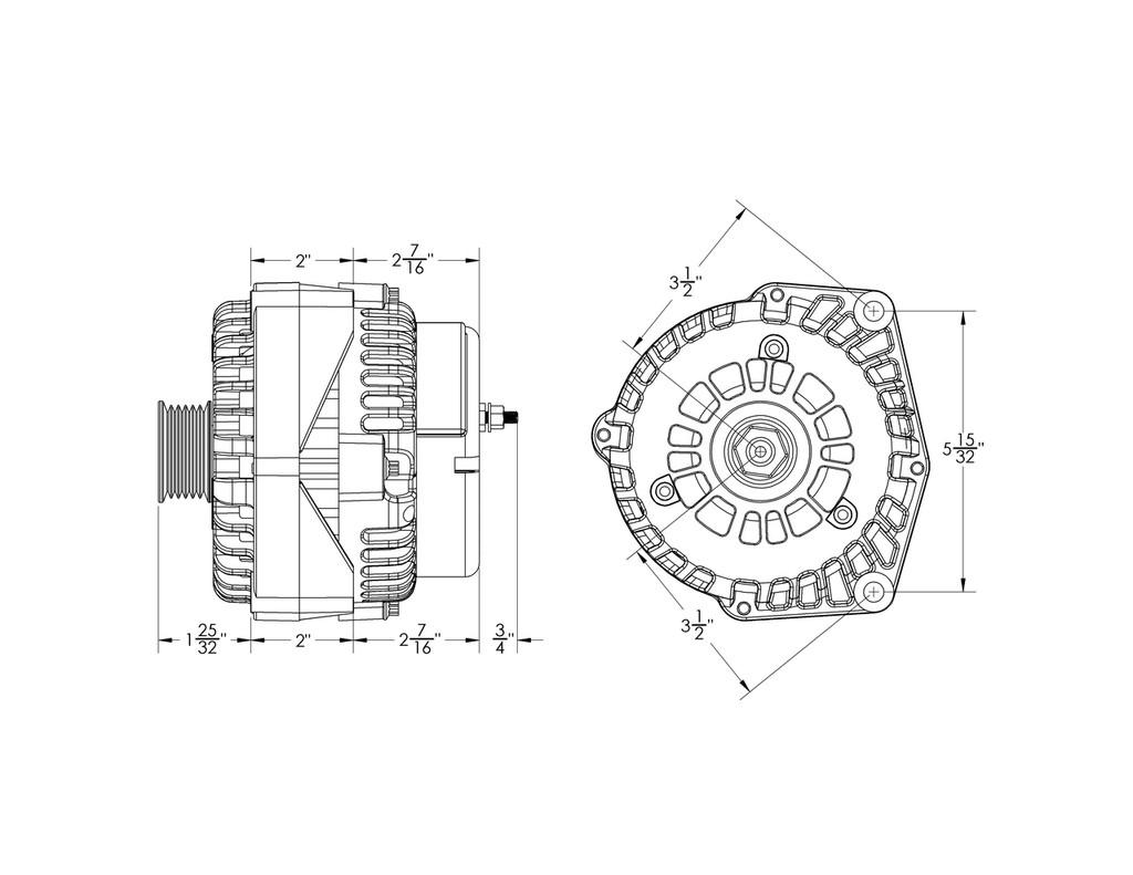 hight resolution of  240 amp high output gm truck suv alternator w 4 pin oval plug
