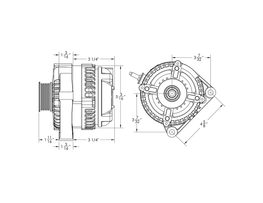 s series 320 amp compact universal one wire alternator [ 1024 x 791 Pixel ]
