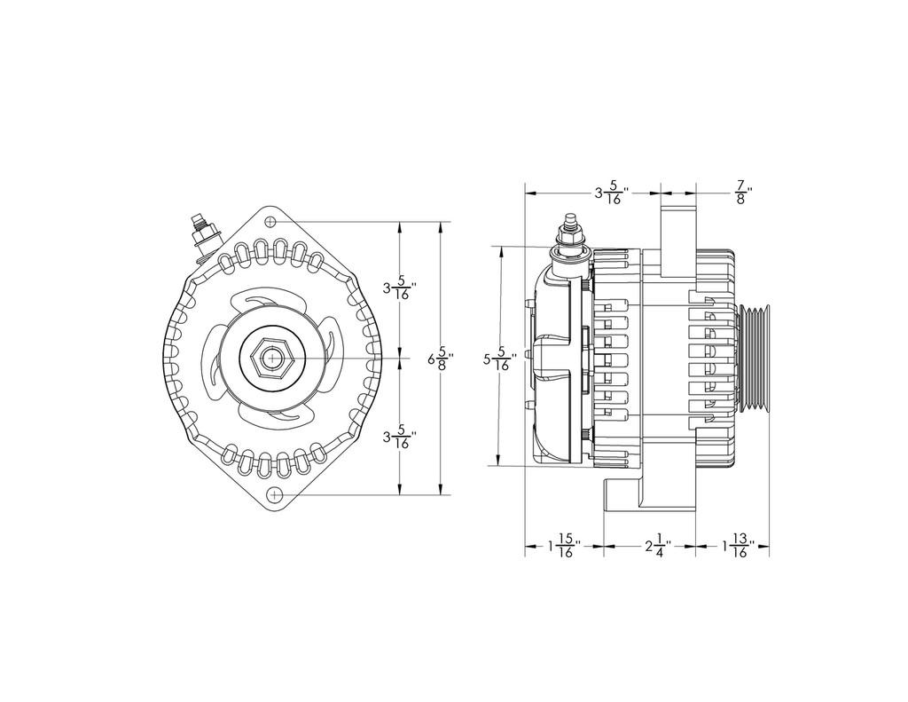 small resolution of 170 amp high output racing alternator for 1988 1991 honda civic