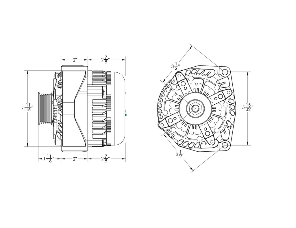 medium resolution of 320 amp high output black alternator for chevy gmc tahoe suburban silverado