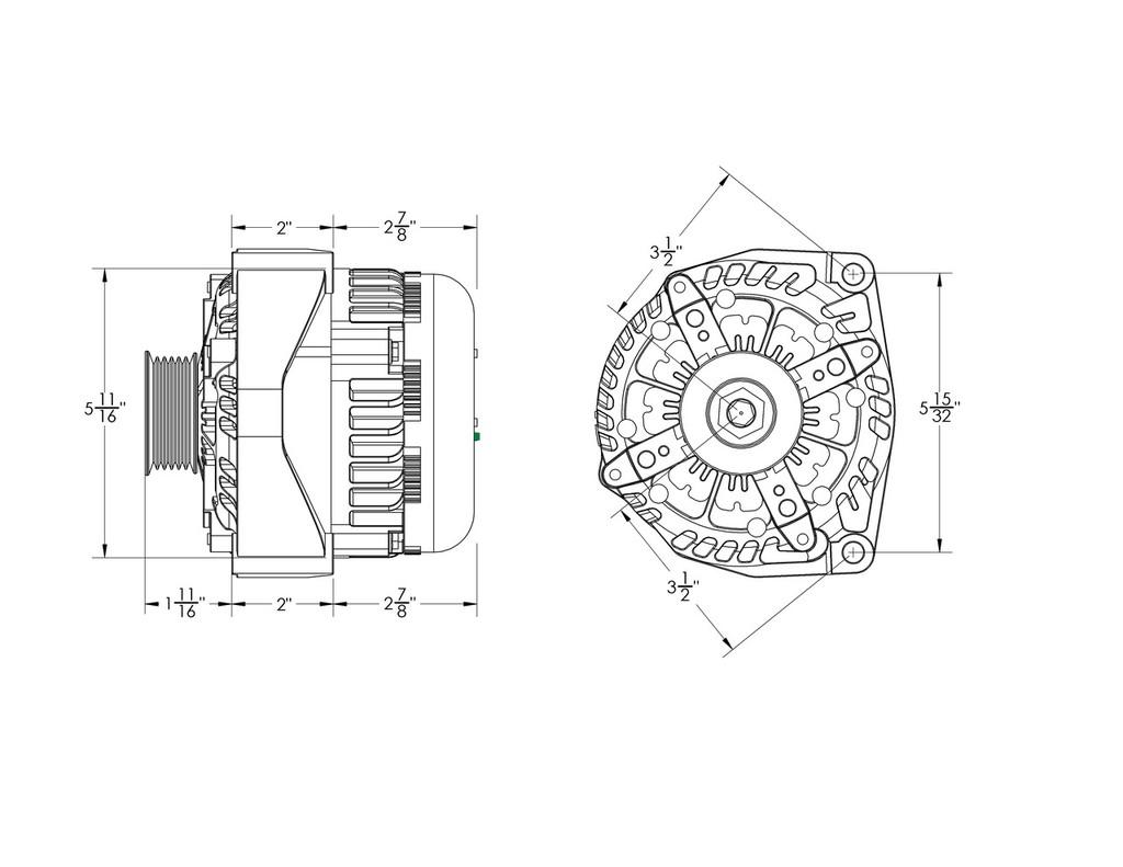 small resolution of 320 amp high output black alternator for chevy gmc tahoe suburban silverado