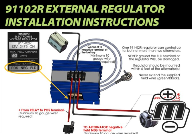 91102r external regulator installation  mechman alternators
