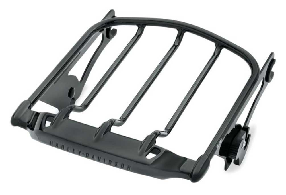 harley davidson air wing detachables two up luggage rack black 50300008a
