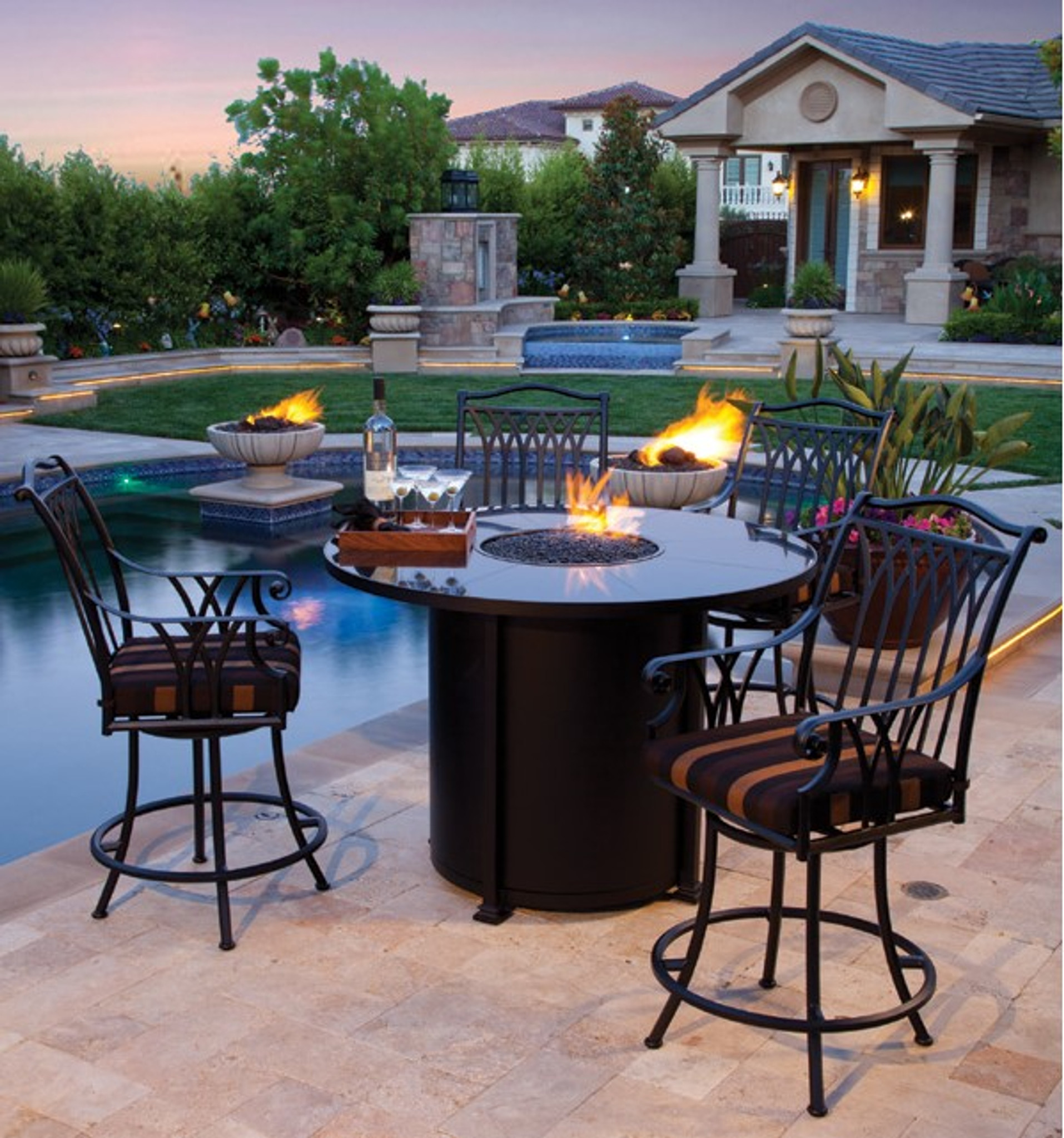 round counter height fire pit by ow lee