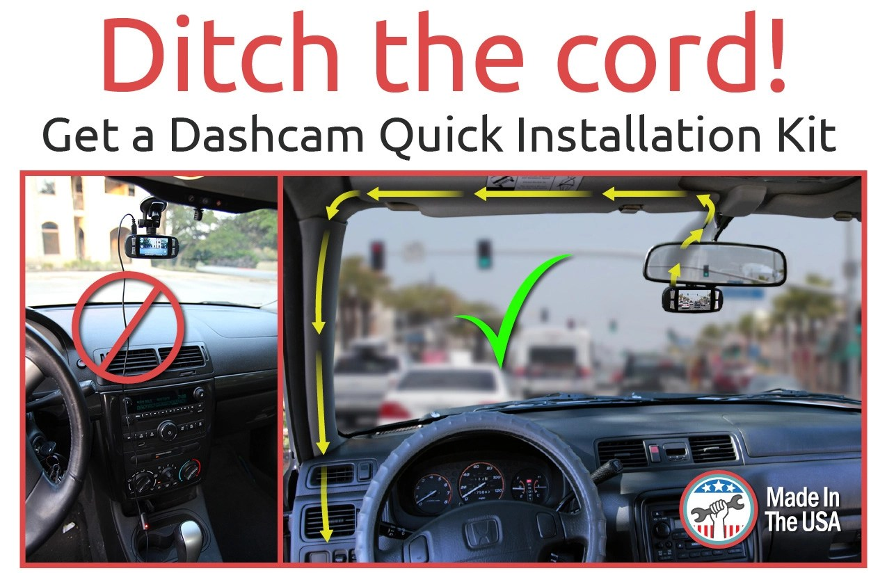 small resolution of  ditch the cord no more distracting cord in your way for your dashcam
