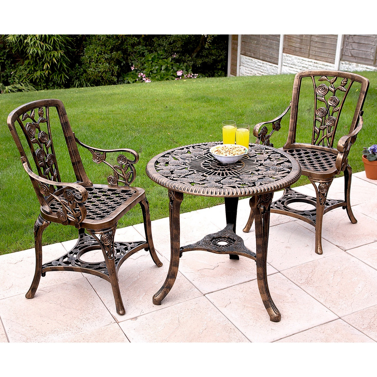 all weather rose patio set