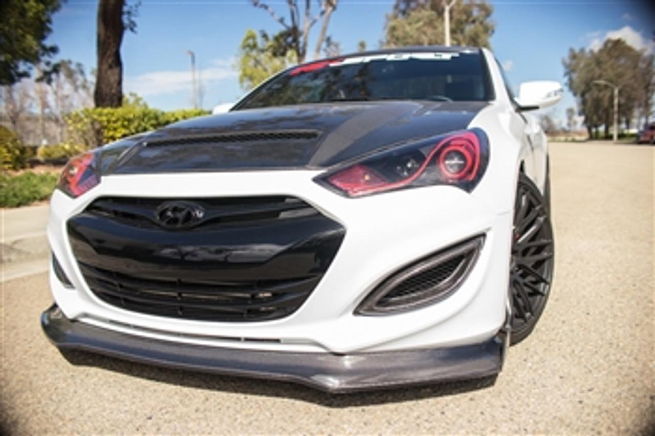 rksport fiberglass front splitter for hyundai genesis coupe 2013 2016 genracer [ 1280 x 852 Pixel ]