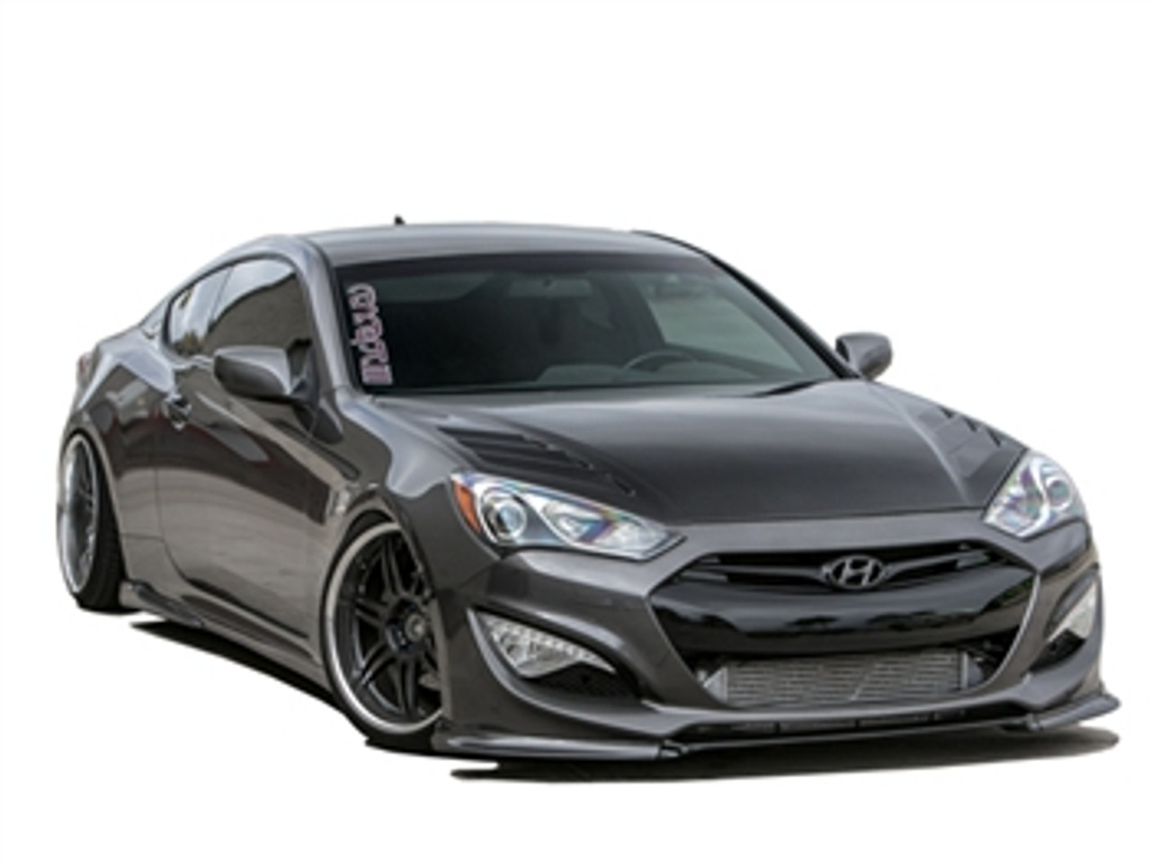 hight resolution of rksport carbon fiber vented hood for hyundai genesis coupe 2013 2016