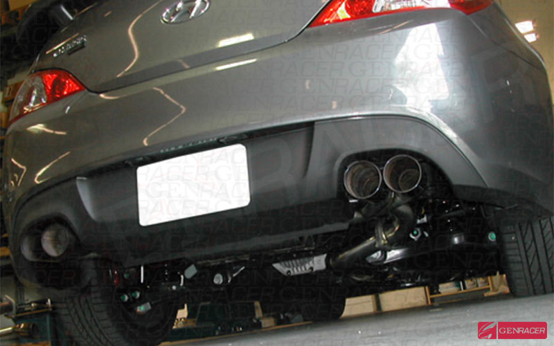 hyundai genesis coupe exhaust systems