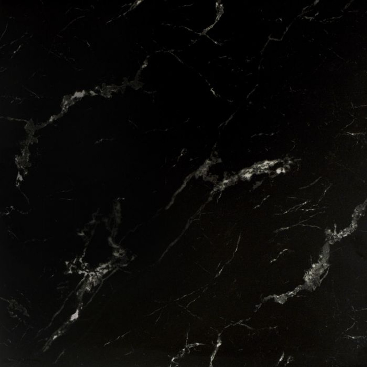 genova black marble gloss wall floor tile 585 x 585 x 8mm