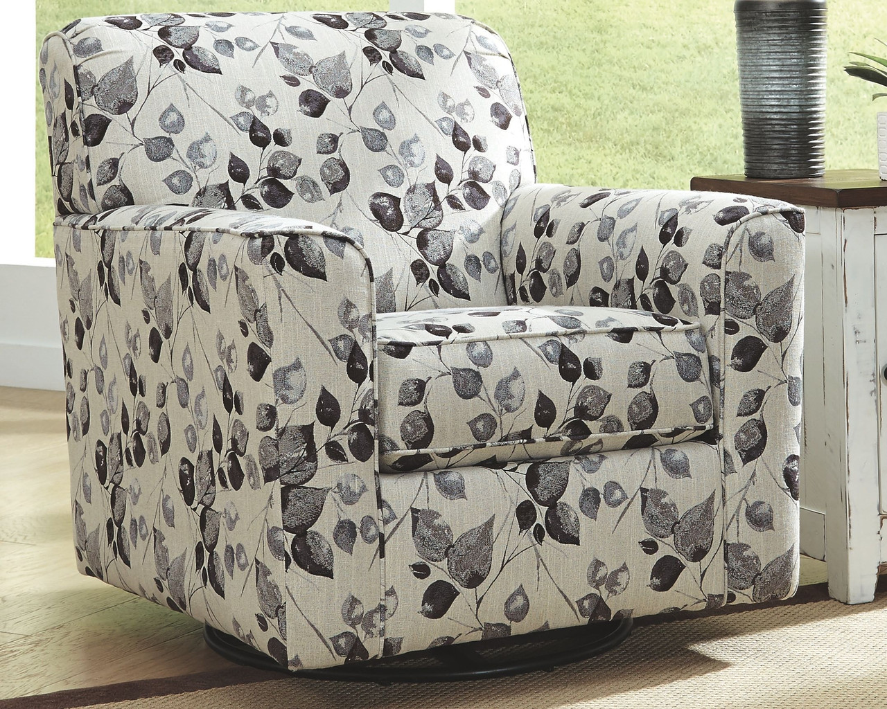 Ashley Abney Platinum Swivel Accent Chair On Sale At Red Shed Furniture Serving Goldsboro Wilson Greenville Nc