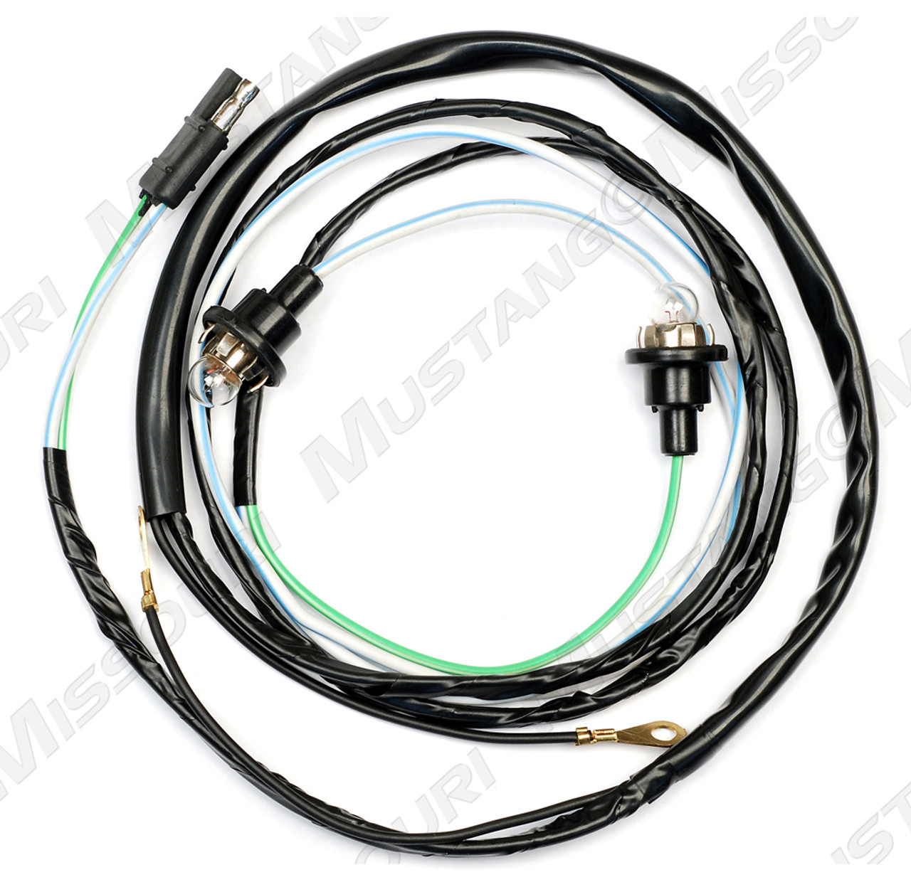 1967 1968 ford mustang hood turn signal wiring harness  [ 1000 x 969 Pixel ]