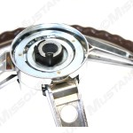 1965 1966 Ford Mustang Deluxe Woodgrain Steering Wheel For Pony Interior
