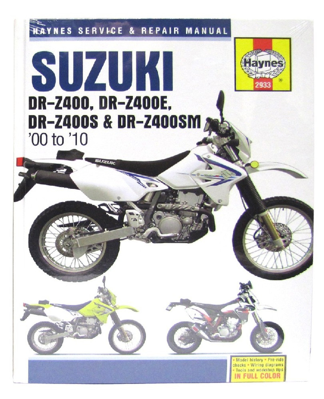 medium resolution of haynes manual suzuki drz400 00 05 drz400e 00 09 drz400s sm 00 10 each mymotoparts com