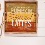 Wood Autumn Greeting Serving Trays Set Of 3 Decorator S Warehouse