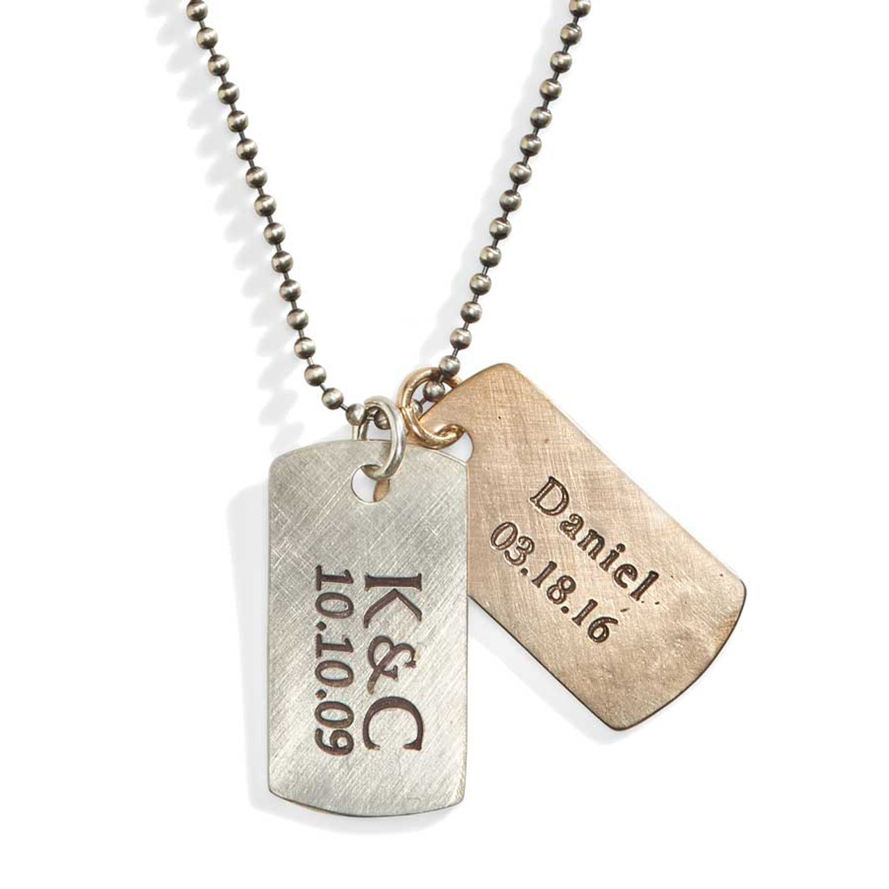 rustic personalized dog tag