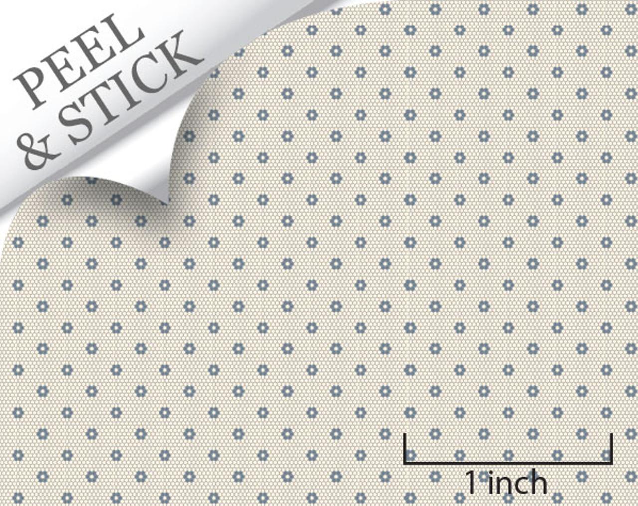 1 48 peel and stick flooring hexagon tile denim color