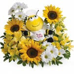 Get Well Soon Flowers Bumble Bee Nurse Bouquet