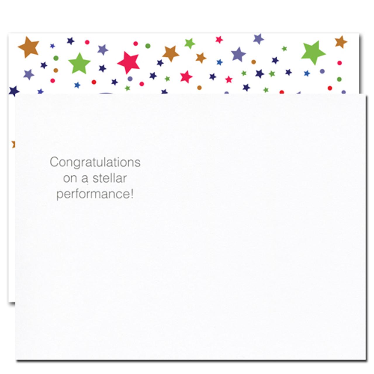 postcards congratulations stellar performance