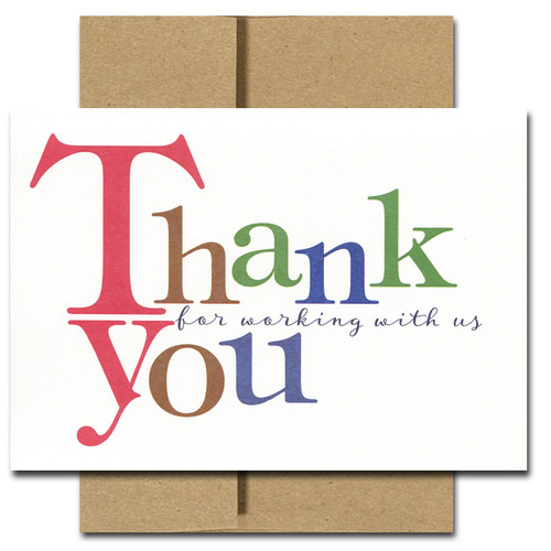 Business Appreciation Cards Bold Letters Box Of 10