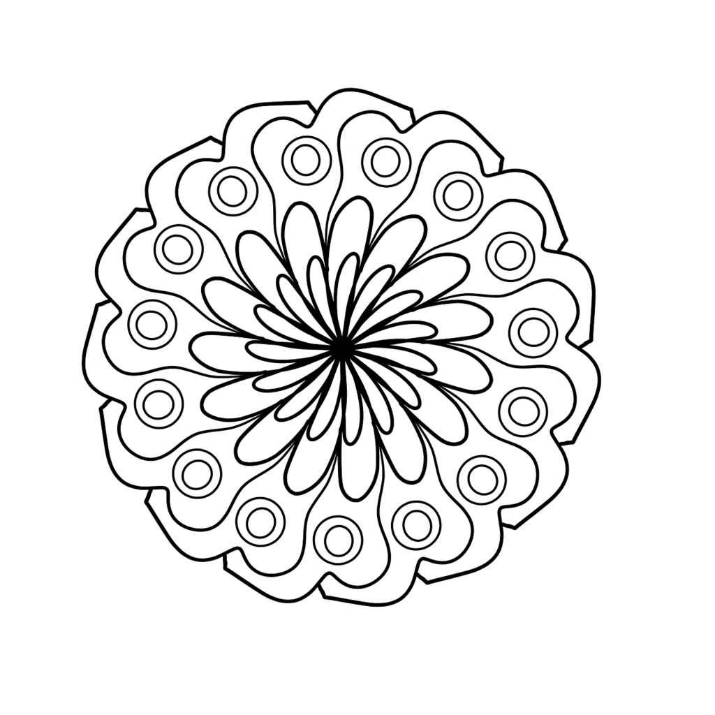 Mandala Coloring Page Coloring For Adults Backgrounds
