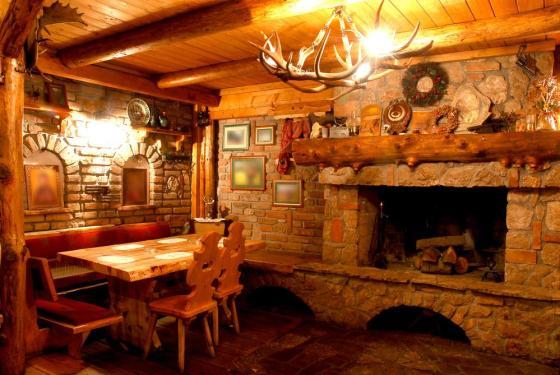 Wnętrze górskiej restauracji