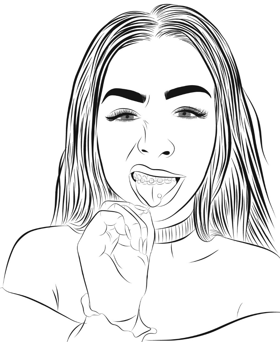 isaacfaraustds Photos Drawings and Gif Outlines new style