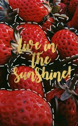 aesthetic background edit quote picsart strawberry sign save