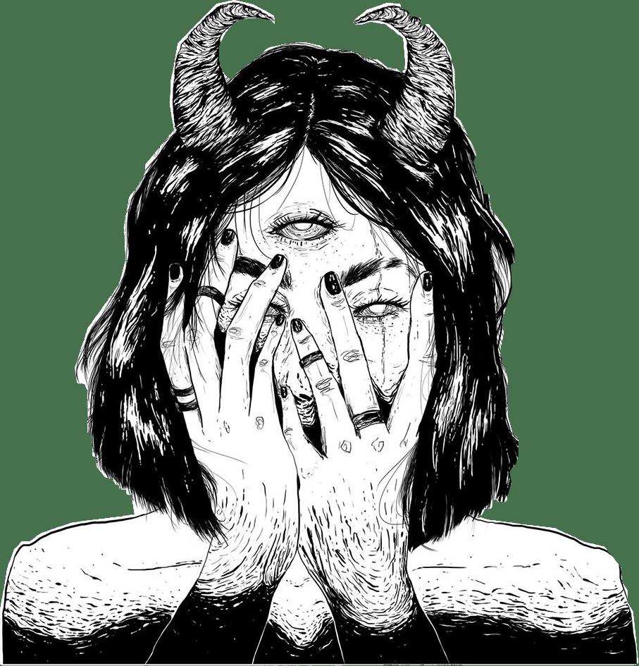 dark tumblr drawing art