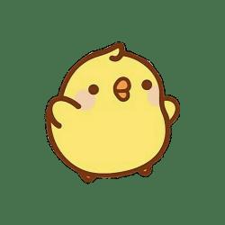 aesthetic kawaii stickers cute transparent soft mochi drawings yellow molang cartoon backgrounds cat picsart japanese dreamcatcher india dibujos