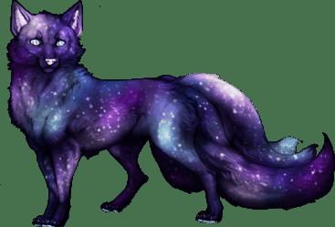 galaxy wolf cosmic Sticker by Anamilena