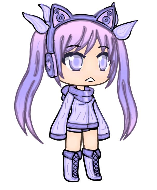 lunime purple anime chibi girl gacha gachalife gacha