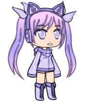 lunime purple anime chibi girl
