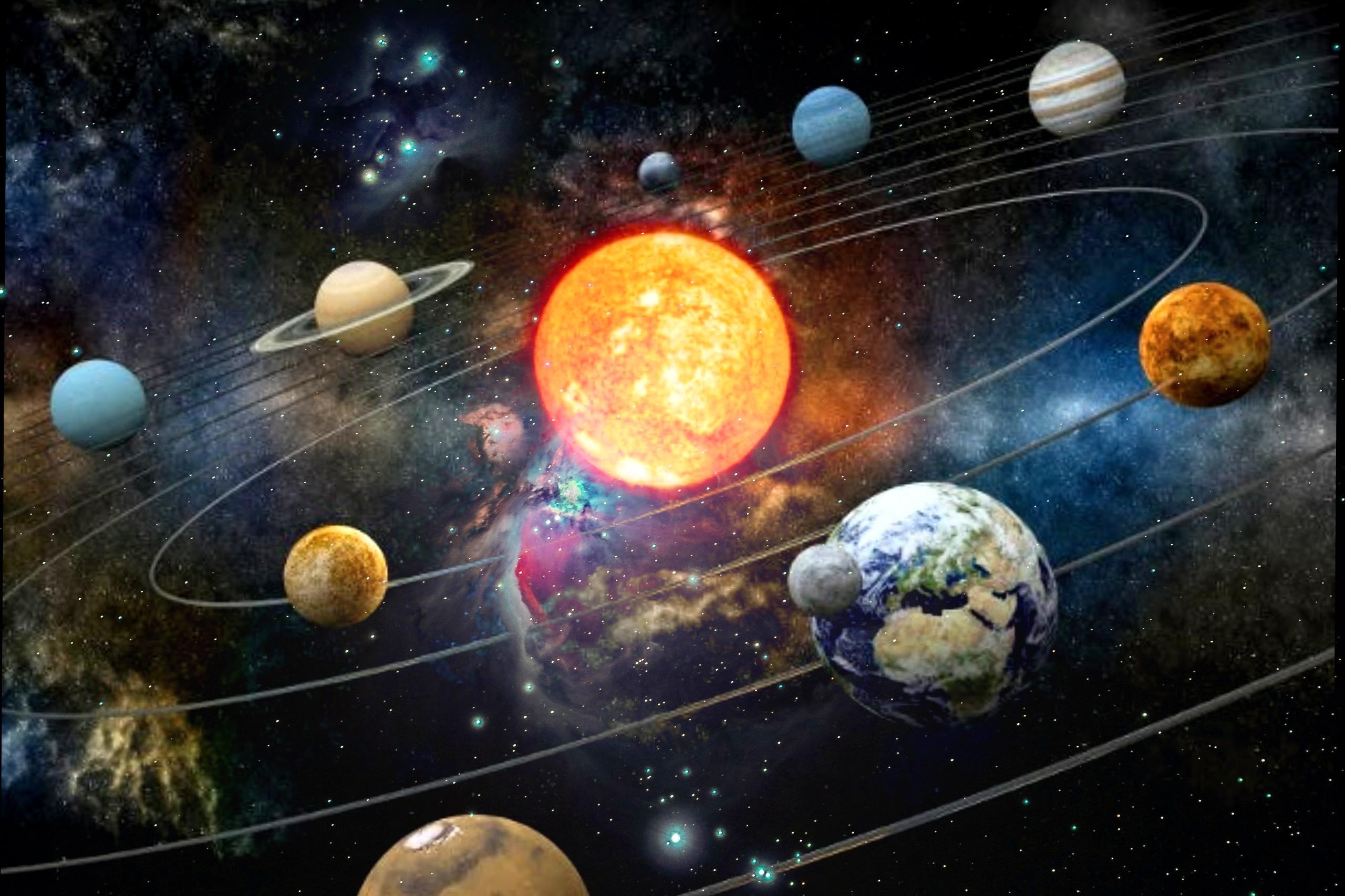 Sun Earth Moon Solarsolarsystem Realistic Universe Gala
