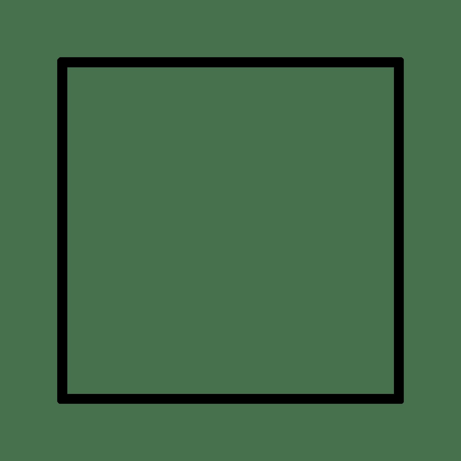 Square Box Overlay Icon Tumblr Doddle Black