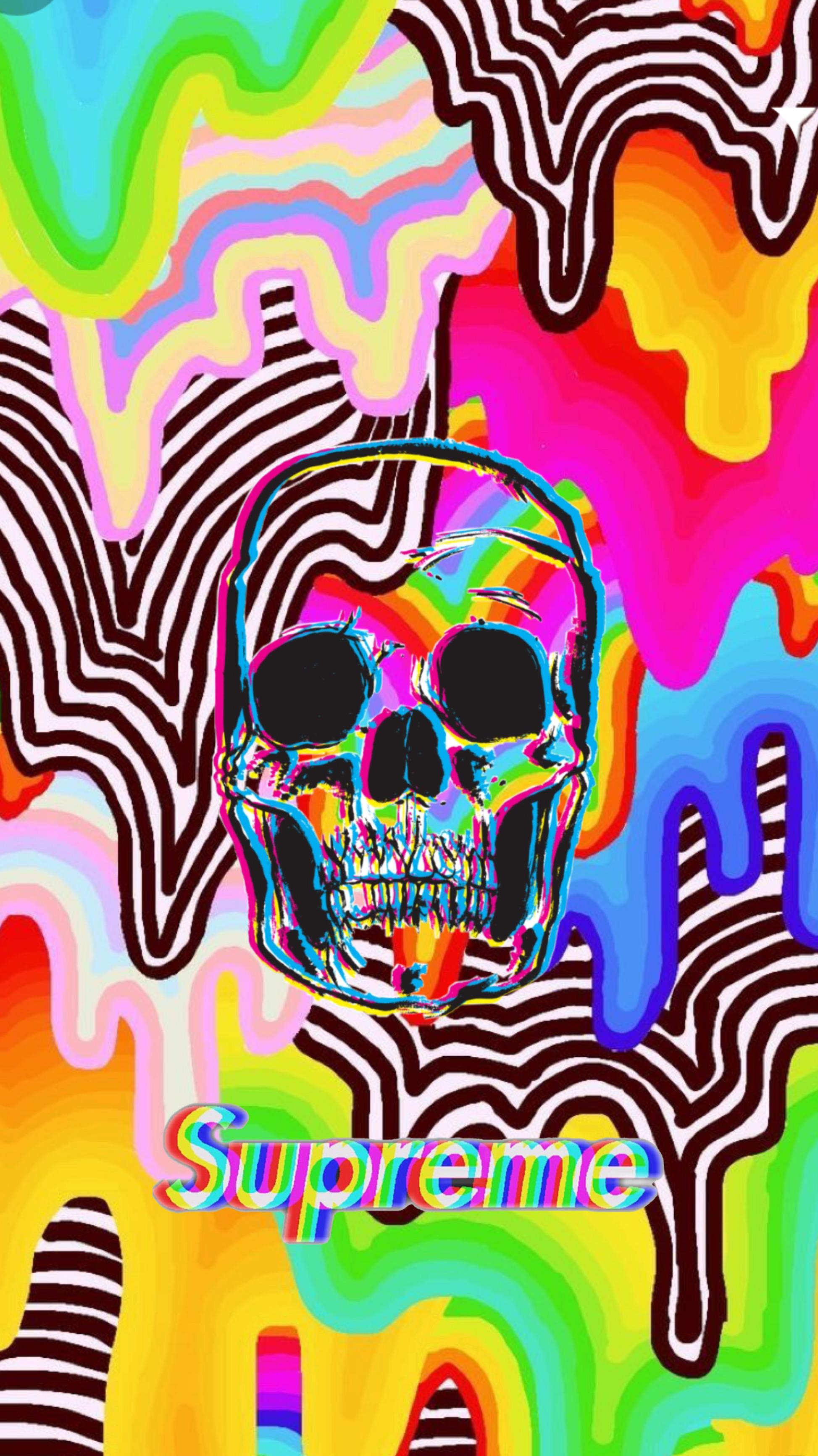 Trippy Supreme Wallpaper : trippy, supreme, wallpaper, Trippy, Skull, Supreme, Image