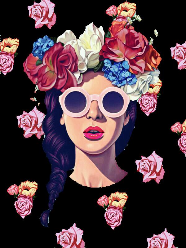Cartoon Cute Girl Desktop Wallpapers Girl Flowers Tumblr Sticker By T 225 Cila Alves